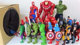 Spiderman, Hulk, Iron Man, Superman, Batman, Various Superheroes Step into the Box!