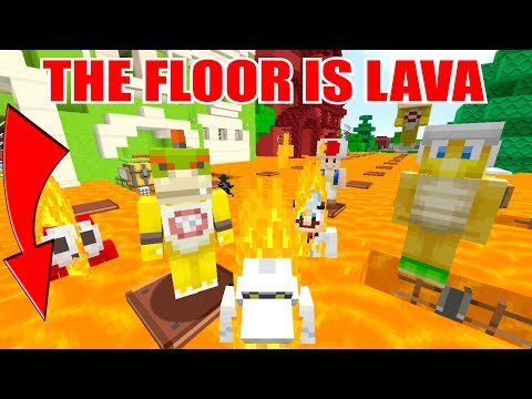 Minecraft Switch  Nintendo Fun House   THE FLOOR IS LAVA! WHO DIES?! 113