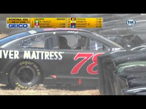 All NASCAR Crashes from Sonoma 6-28-15 (Live)