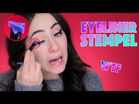 VAMP STAMP | eyeliner STEMPELN like a PRO ? | live Test mit dem LARGE Vamp Stamp | Hatice Schmidt