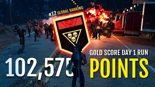 Day 1 Gold Score Horde Challenge Gameplay 102575 Points - Week 9 - Reload  Days Gone
