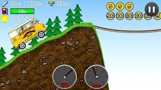 Hill Climb Racing: Drive Through Trees on XMAS and FOREST Tracks with the Hippie Van! 1.17.0
