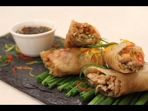 Chicken Spring Rolls | Chinese Cuisine  | Sanjeev Kapoor Khazana