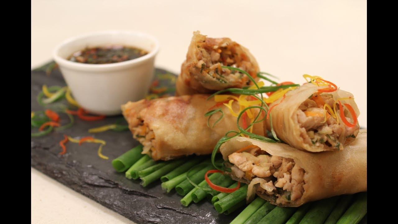 Chicken Spring Rolls | Chinese Cuisine | Sanjeev Kapoor Khazana ...