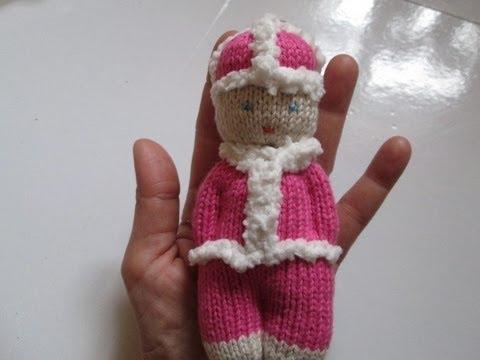 Tuto tricot apprendre a tricoter une mini poupee amigurumi au tricot facile easy knit - Apprendre a tricoter debutant ...