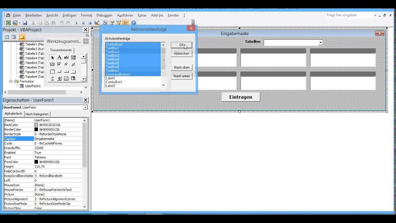 Datenbank Programm in Excel VBA selber erstellen 7 Daten aus UserForm in Excel Datenbank