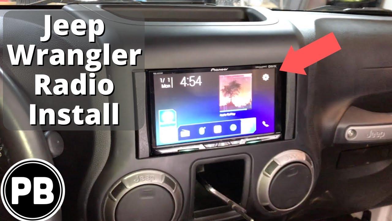 2007 - 2018 Jeep Wrangler JKU Radio Install Jeep Wrangler Radio Wiring Harness on jeep wrangler radio fuse, jeep wrangler trailer wiring harness, jeep wrangler radio antenna, jeep wrangler door harness, jeep wrangler fuse box diagram, jeep wrangler wiring diagram, jeep wrangler radio bracket, jeep wrangler radio relay, jeep wrangler antenna harness, jeep wrangler radio cover, jeep wrangler window regulator, jeep wrangler transmission cooler lines, jeep wrangler mpg,
