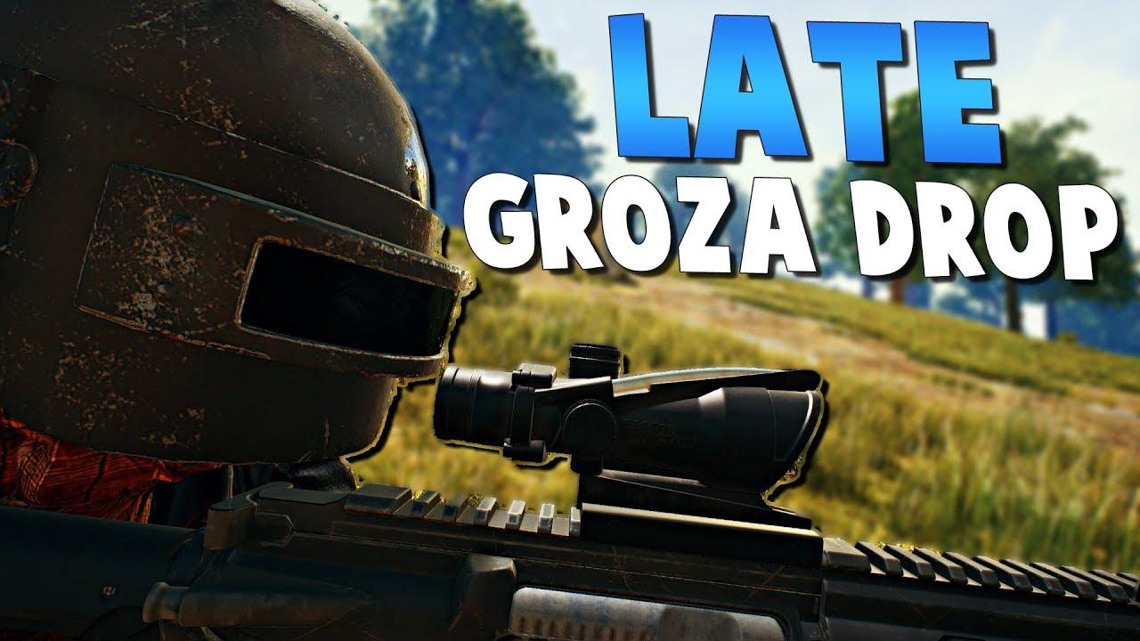 Late Groza Drop Playerunknown S Battlegrounds Pubg Youtube