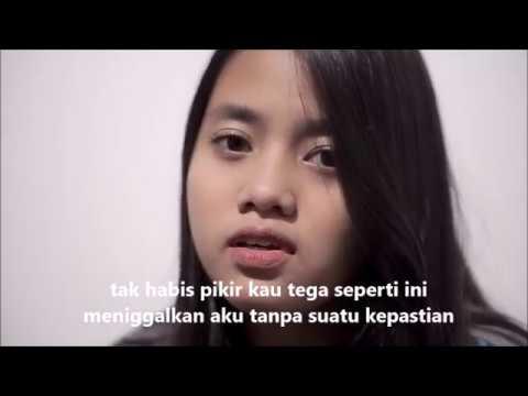 Biar Aku Yang Pergi - Lirik Video (Cover) By Hanin Dhiya
