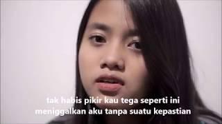 Gambar cover Biar Aku Yang Pergi - Lirik Video (Cover) By Hanin Dhiya