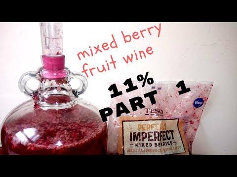 mixed berry fruit wine 11%