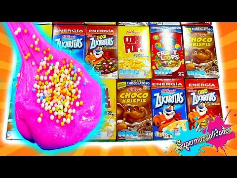 Don't choose the wrong cereal for Slime (Challenge with my brother) /Supermanualidades
