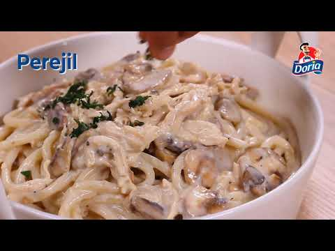 Bucatini Doria con pollo y champiñones