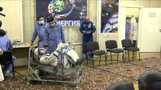 ISS Expedition 41 / 42 - Soyuz TMA-14M Pre launch Activities