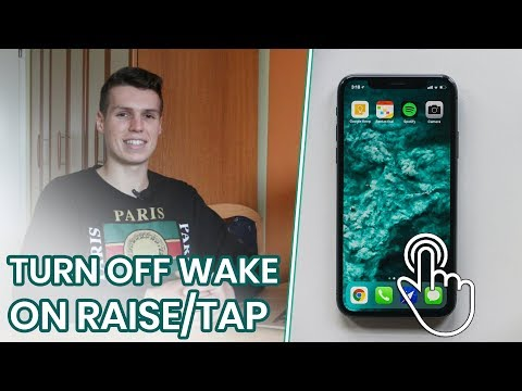 How to turn off auto wake on iphone x