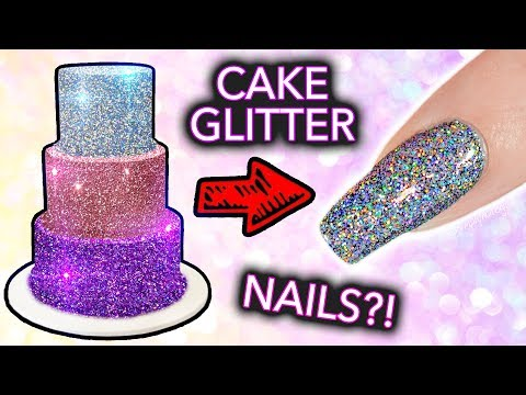 "Thumbnail: Putting CAKE GLITTER on NAILS? (+ ""edible"" Diamond Cappuccino EXPOSED)"