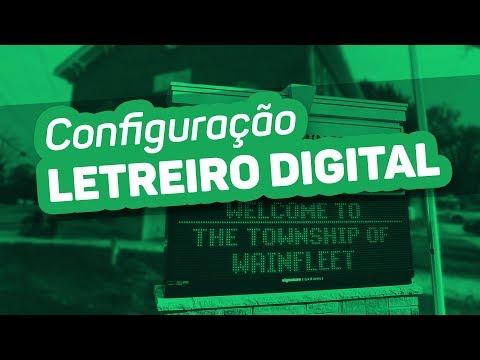 Letreiro Digital - Como Configurar Painel de LED