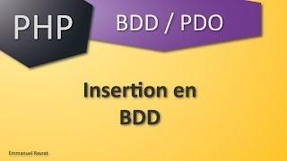 004 - PDO - Insérer des données en BDD