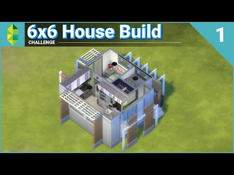 6x6 House Build CHALLENGE - Part 1 of 2 (Sims 4)