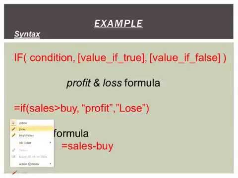 MS Excel-2010 funation/formula Find Profit  Loss part-13 (hindi