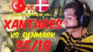 XANTARES POV 1440p@60fps | 35/18 vs. Denmark | de_cbble