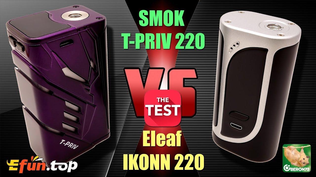 SMOK T-Priv 220 vs Eleaf iKonn 220  Что выбрать? Тесты и сравнение