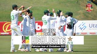 Zimbabwe vs Pakistan Highlights | 1st Test | Day 1 | Pakistan tour of Zimbabwe 2021