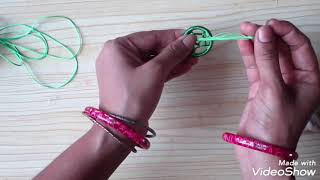 very easy and beautiful dream catcher bracelet| bracelet making at home