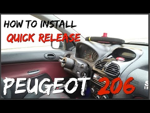 HOW TO install Quick release & OMP Steering Wheel Peugeot 206 *Vlog.30*