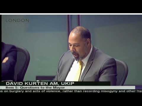 David Kurten questions London Mayor Sadiq Khan on hate crimes and incidents
