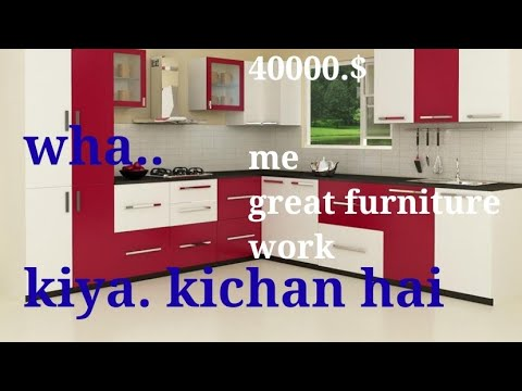 Modular Kitchen Simple And Beautiful Design Red And White