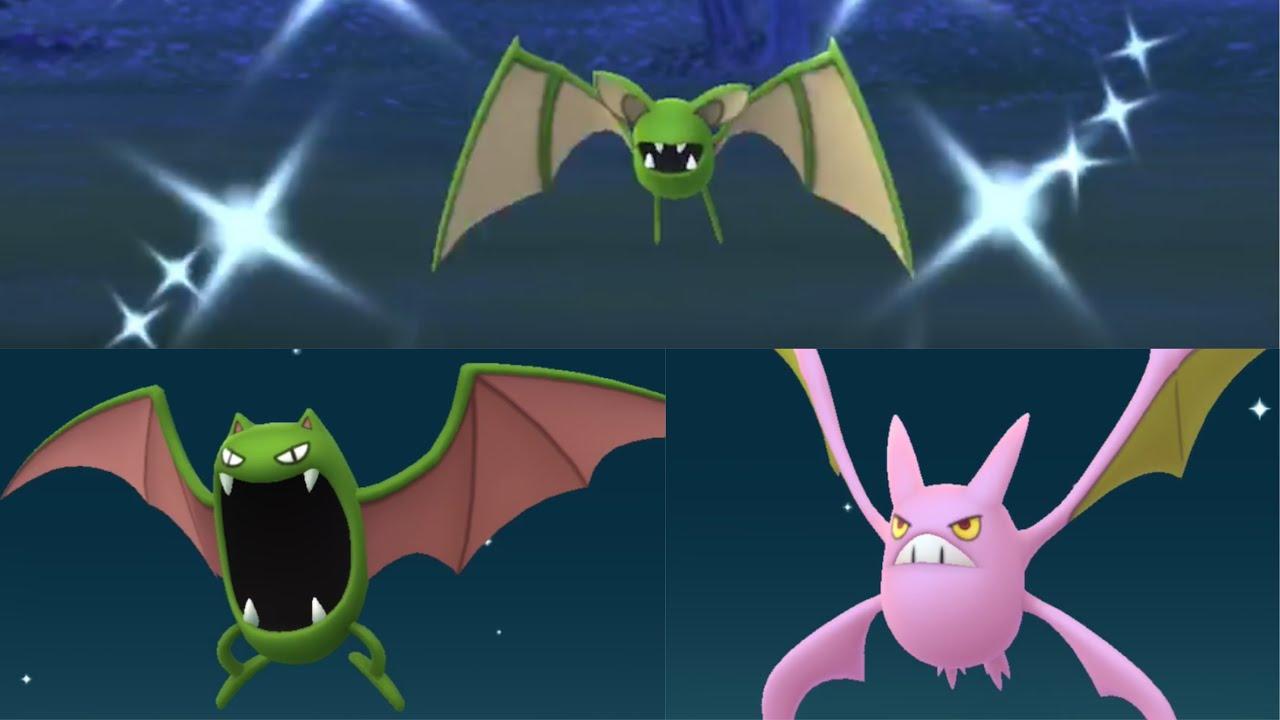 NEW SHINY ZUBAT, GOLBAT, AND CROBAT IN POKEMON GO!!! - YouTube