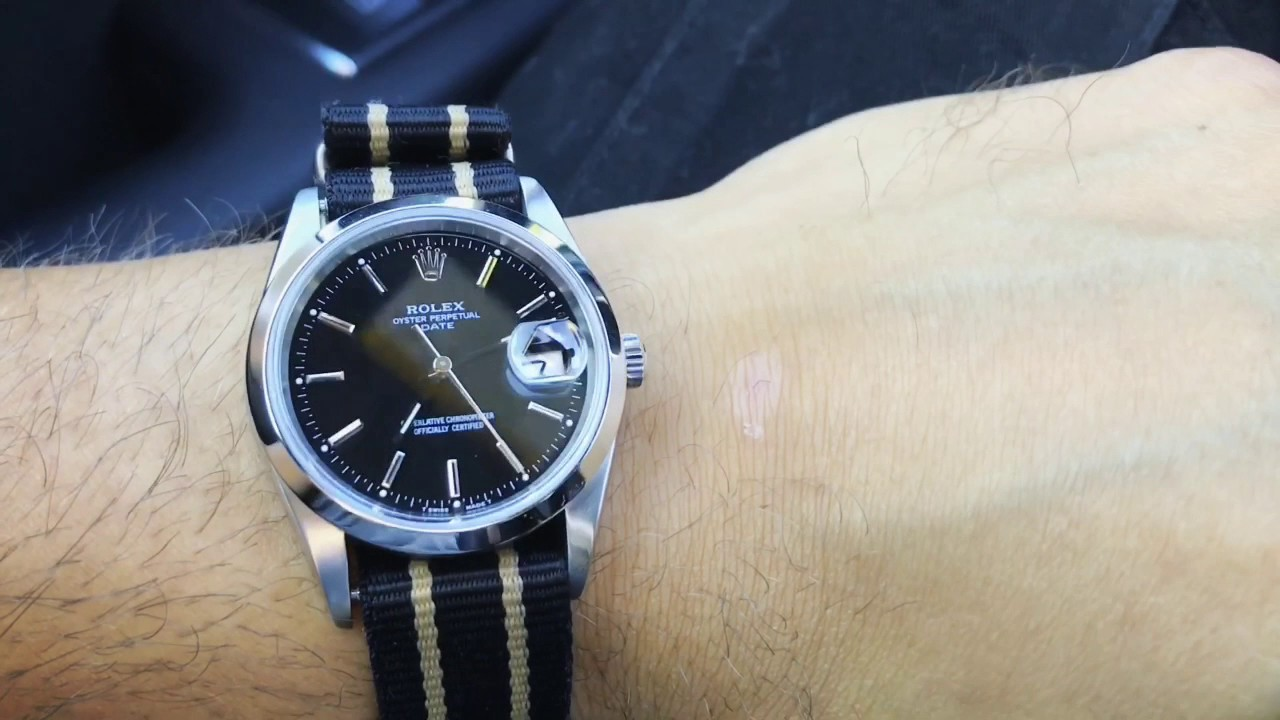 Versatile Rolex Rolex Date On A Nato Strap Youtube