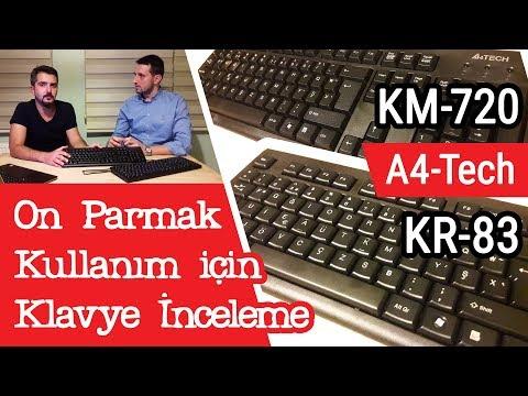 A4-Tech KM-720 ve KR-83 Klavye İncelemesi (On Parmak Uygunluğu)