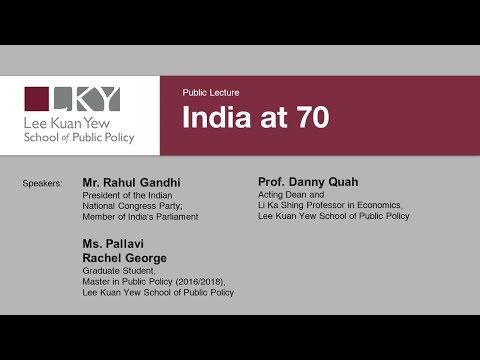 [Public Lecture] INDIA AT 70 with Rahul Gandhi