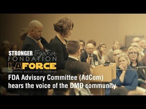 FDA Advisory Committee (AdCom) hears the voice of the DMD community