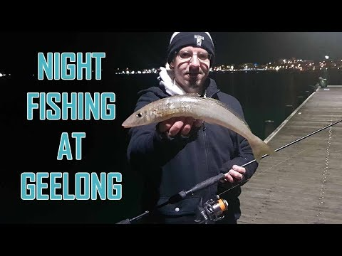 Night Fishing For Whiting In Geelong Melbourne Near Cunningham Pier Waterfront