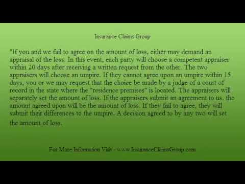 The Appraisal Clause and Insurance Claims