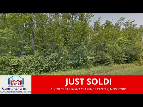 Sale Pending - Clarence Center, NY Land For Sale Erie County New York