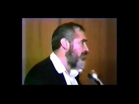 RABBI KAHANE speaks at TEMPLE BETH-EL  { newton Ma.} Part 2 of 2   1987