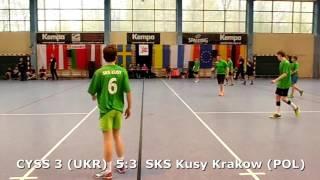 U15 boys. Group M02 gr 2. Lajkonik cup 2017. SKS Kusy Krakow - CYSS 3 (UKR) - 6:11 (1st half) 22.04