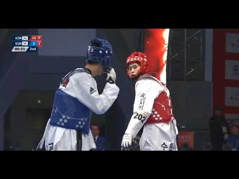 Wuxi 2018 World Taekwondo Grand Slam FINAL Tae-Hun KIM(KOR) vs Jun JANG(KOR)