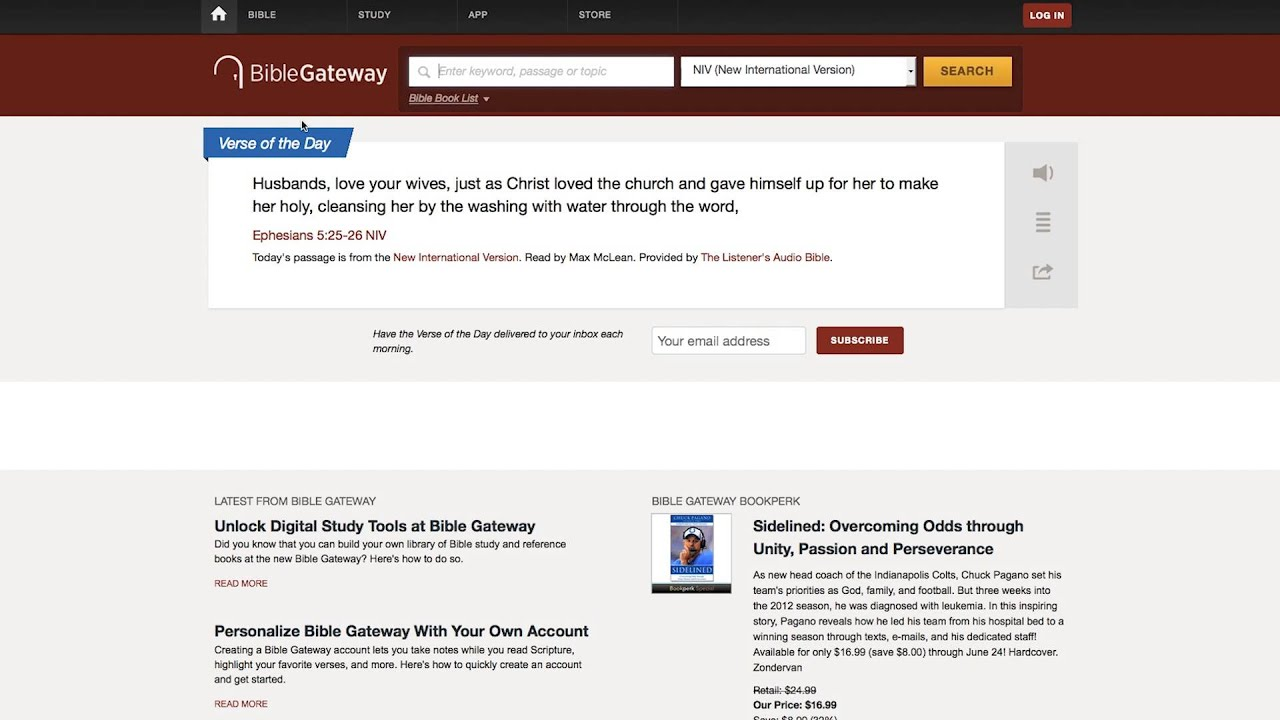 BibleGateway com: A searchable online Bible in over 150 versions and