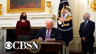 Biden rolls out plan to battle coronavirus pandemic with new executive orders