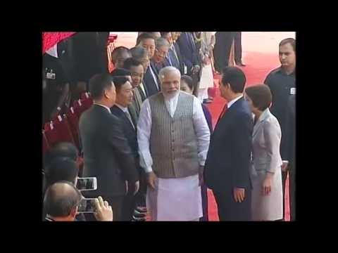 PM Modi with Prime Minister of Vietnam, Nguyen Tan Dung at Rashtrapati Bhavan