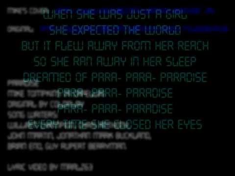 Paradise -- Mike Tompkins  -- Lyrics