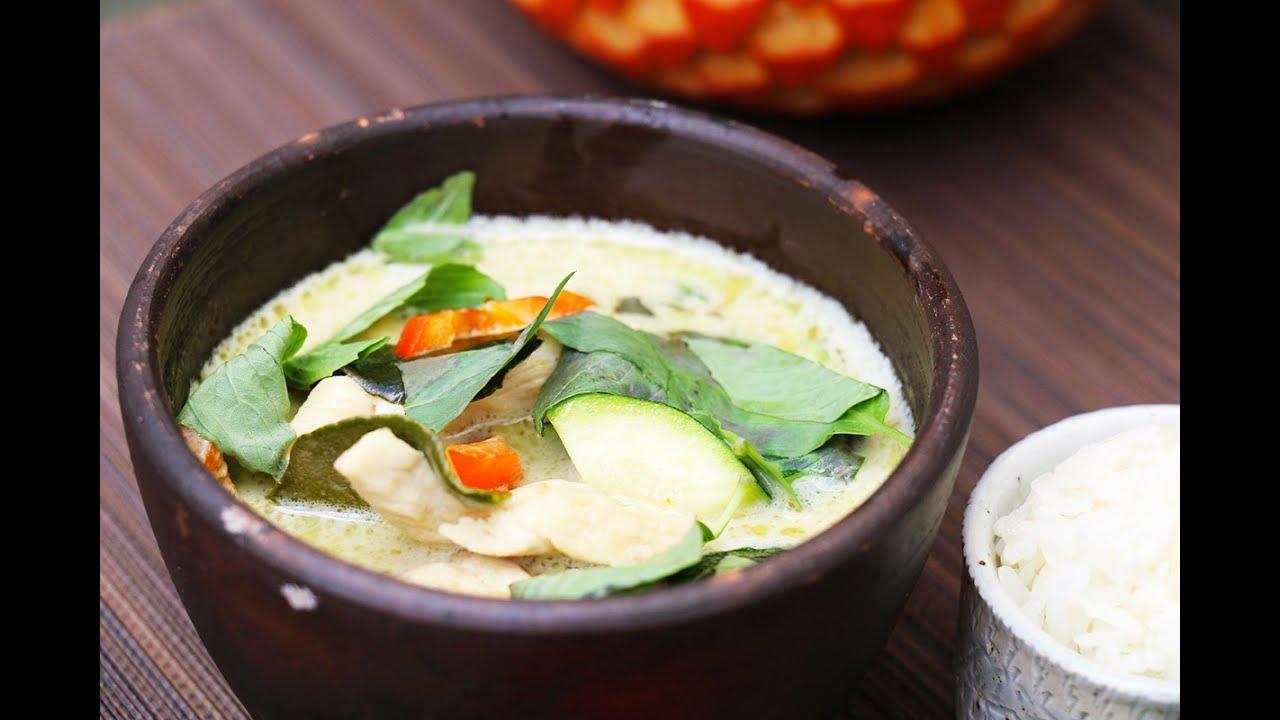 Poulet au curry vert recette de cuisine tha - Recette cuisine thailandaise traditionnelle ...