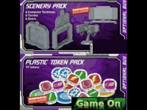 Starcadia Quest Kickstarter Exclusive 3D PLASTIC SCENERY PACK