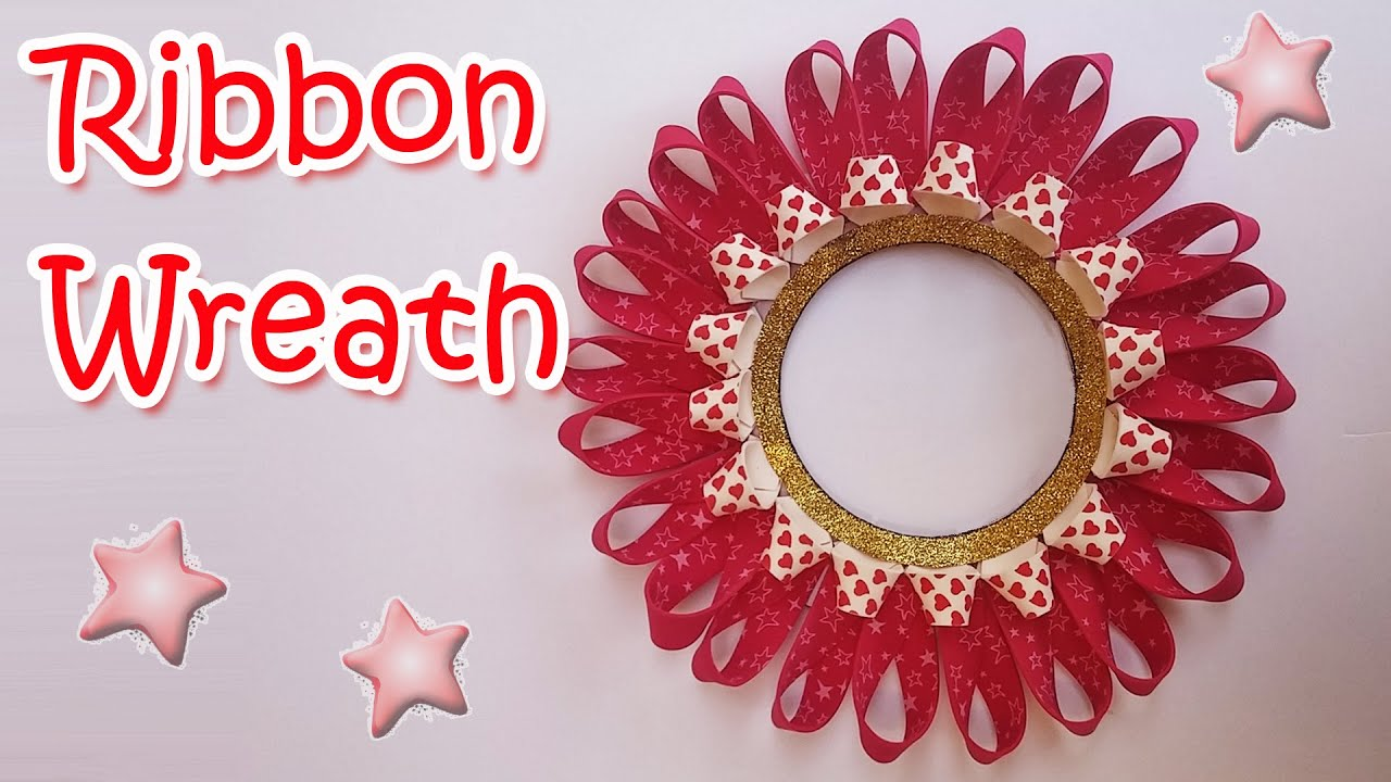 christmas decorations diy ribbon wreath ana diy crafts - Christmas Ribbon Decorations