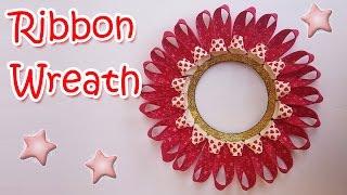 Christmas decorations - DIY Ribbon Wreath - Ana | DIY Crafts